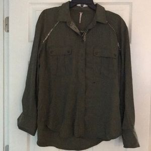 Free People button up long sleeve shirt